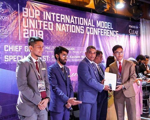 Best Delegate Award in BUP MUN-2019