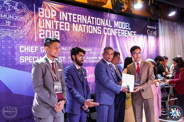 Best Delegate Award in BUP MUN-2019