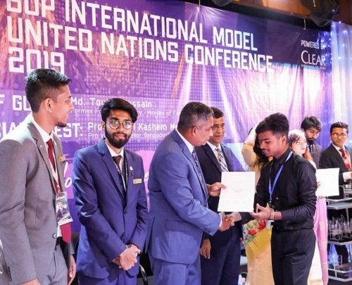 Best Position Paper Award in BUP MUN-2019